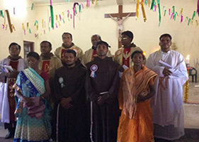 OFM Franciscan India - Solemn Profession in the Custody of Mary Mother of God